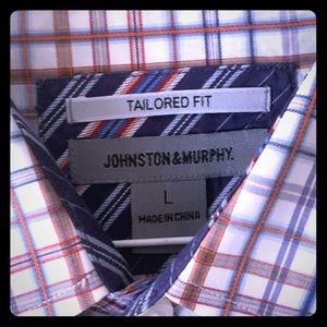 Johnston & Murphy Long Slv Button Down Dress Shirt